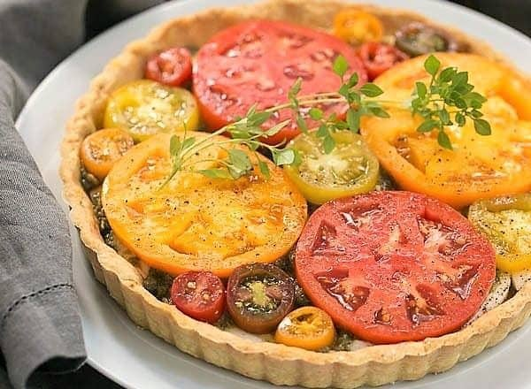 Fresh Tomato Tart - The marriage of summer tomatoes, basil and mozzarella makes for a fabulous dish!