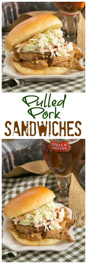 Pulled Pork Sandwiches | Slow roasted pork with an amazingly flavorful dry rub is shredded and mixed with a vinegar based BBQ sauce