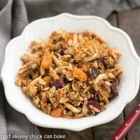 Vanilla Granola with Dried Fruit | A fabulous homemade granola sweetened with honey and kissed with vanilla