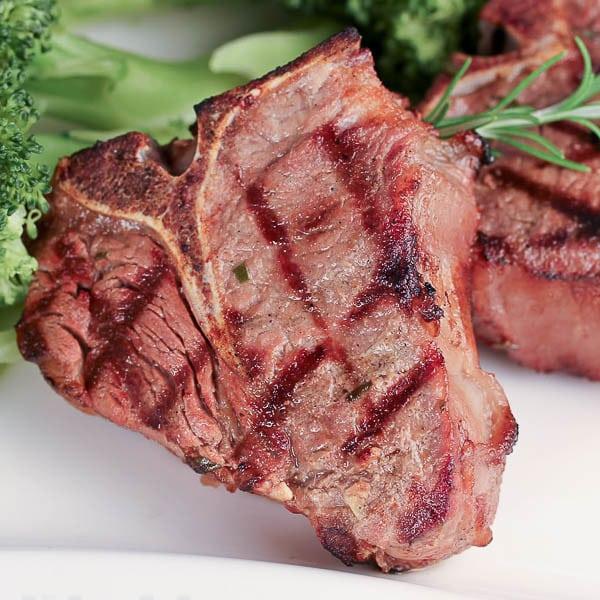 Close up of grilled marinated Lamb Chops