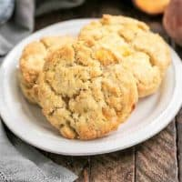 Brown butter peach scones featured image