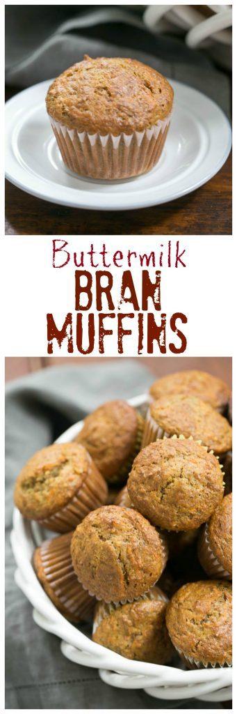 Buttermilk Bran Muffins collage