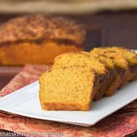 Streusel Topped Pumpkin Bread   Add a delicious topping to a classic autumnal loaf!