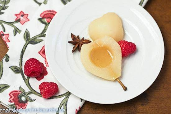 Spiced Poached Pears