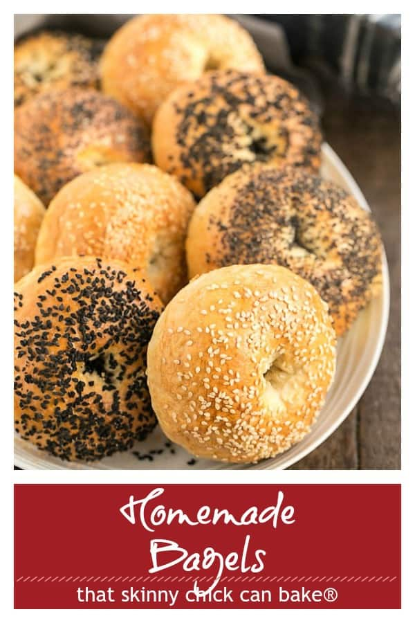 Homemade Bagels text and photo Pinterest collage
