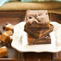 Layered Caramel Brownies