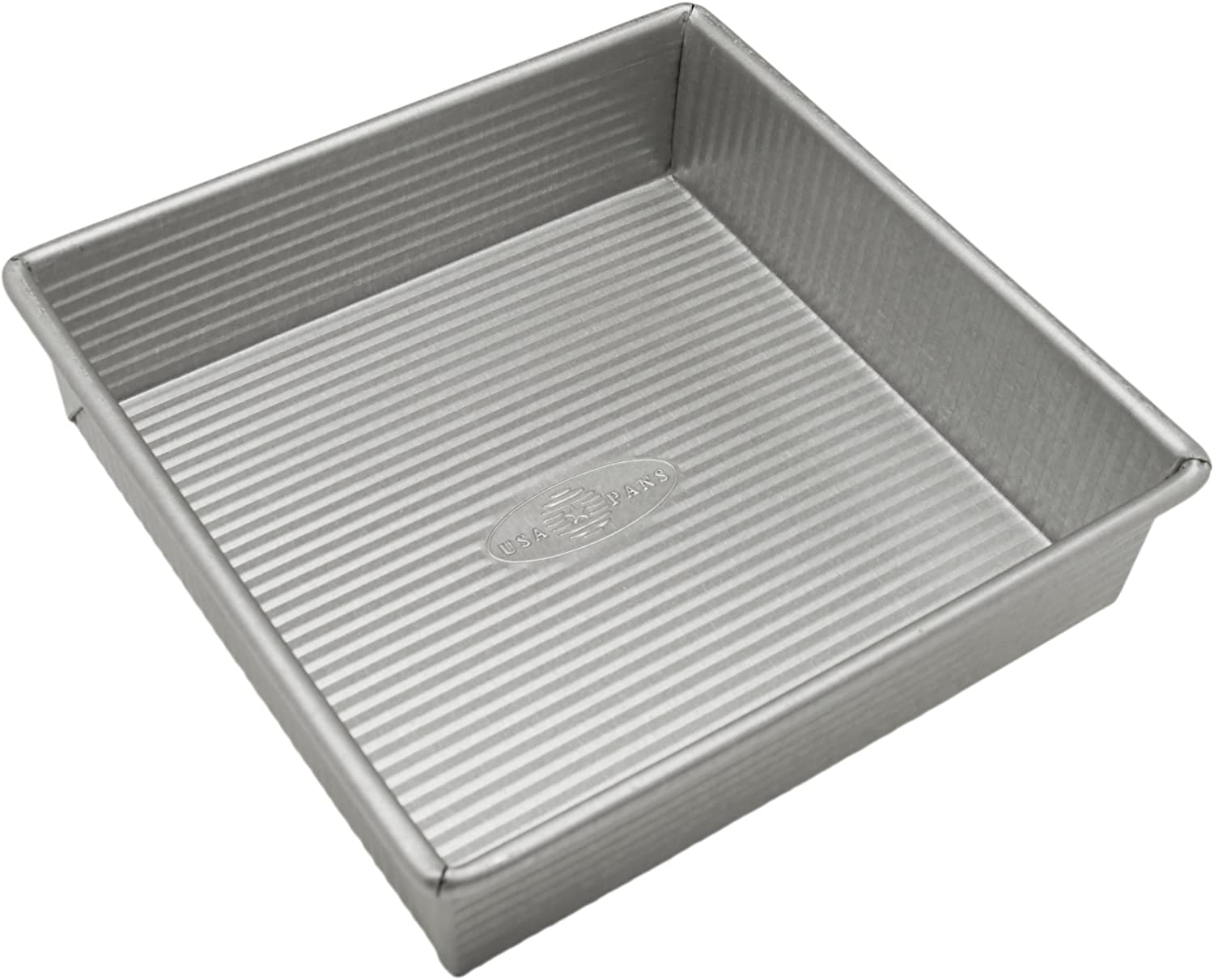 USA Pan Bakeware Square Cake Pan, 8 inch, Nonstick