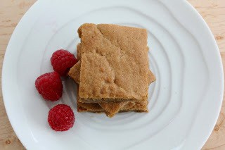 Butterscotch Brownies on a white plate