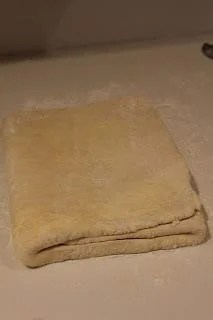 Puff pastry ready to be chilled