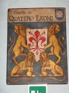 Quattro Leoni sign, Florennce Italy