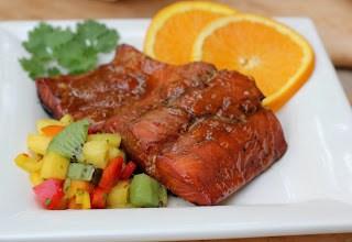 Glazed Salmon with Fruit Salsa