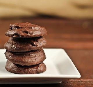 Death by Chocolate Cookies on a white plate circa 2011