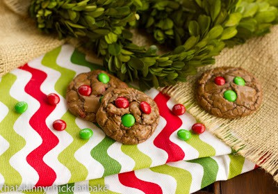 Holiday Truffle Cookies on a patterned napkin