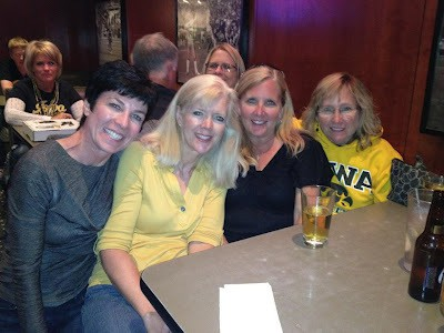 Soroity sisters at the Airliner Bar for Homecoming