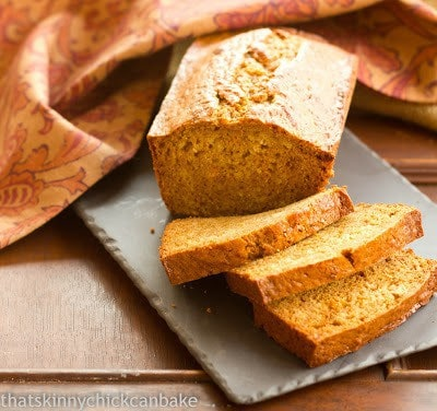 Sweet potato bread on a slate board
