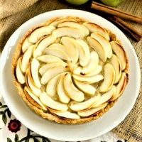 Overhead view of a French Apple Tart