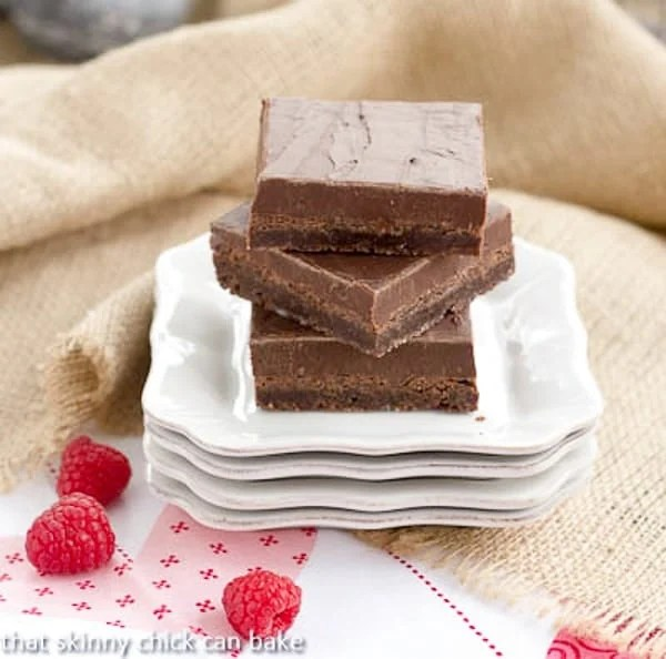 Fudge Topped Brownies - With two types of chocolate ultimate chocolate lover's treat!