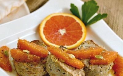 Fresh Orange Pork Tenderloin | Dorie Greenspan's pork medallions with a double hit of citrus!