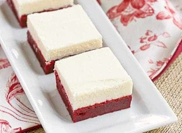 Red Velvet Brownies with White Chocolate Icing | Perfect for Valentine's Day or just because!