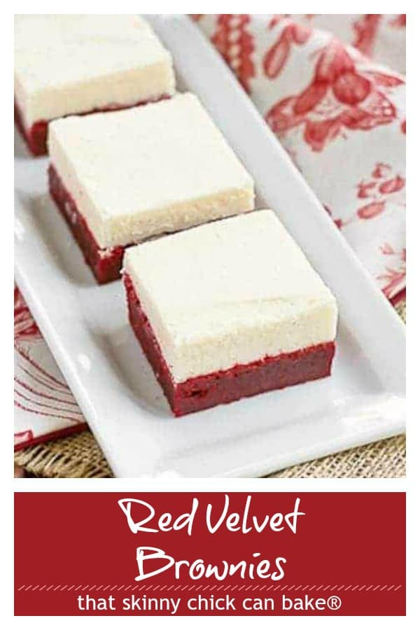 Red velvet brownies pinterest collage