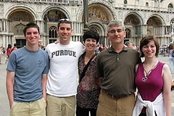 Family at St. Mark's Square in Venice