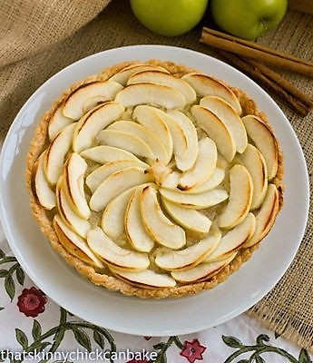 Overhead view of French Apple Tart