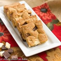 Brown Butter Chocolate Chunk Bars on a tray