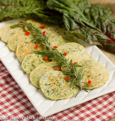 Swiss Chard Pancakes on a serving platter