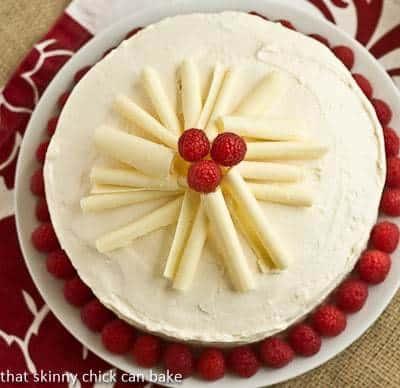 Vanilla Cake with White Chocolate Buttercream