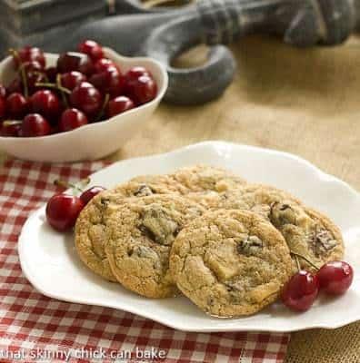 Oatmeal Dried Cherry Cookies with Chocolate Chunks