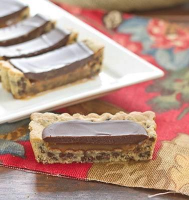 Chocolate Chip Tart with Caramel and Chocolate Glaze