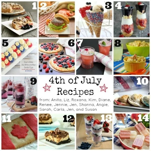 4th of July recipe photo collage