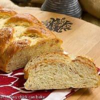 Parmesan Prosciutto Bread on a wooden board