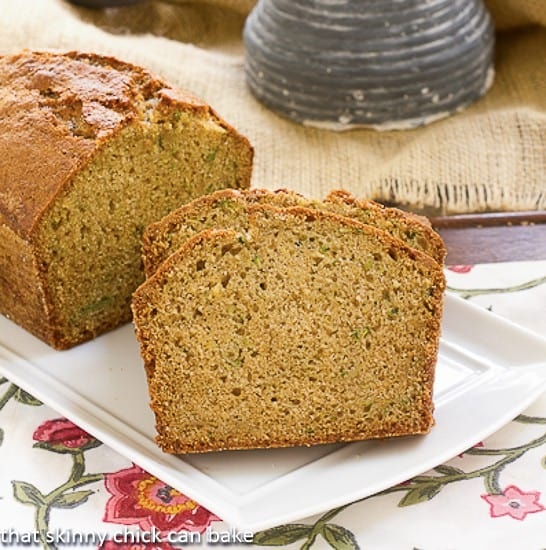 Sugar Crusted Zucchini Bread