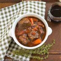 Slow Cooked Beef Stew with Red Wine, Carrots and Tomatoes featured image