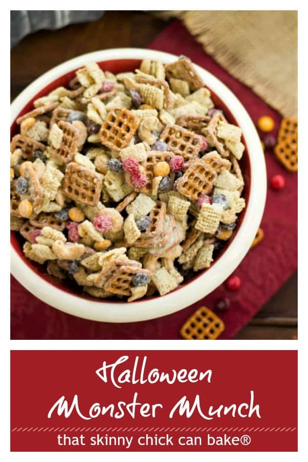 White Chocolate Monster Munch pinterest photo and text collage