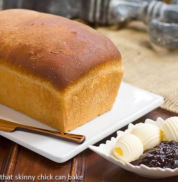 Homemade Potato Bread on a white cutting board