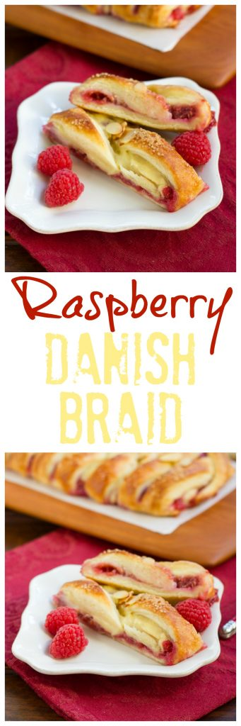 Raspberry Danish Braid | Tender dough with raspberry and cream cheese. Plus how to make a cheater laminated dough!