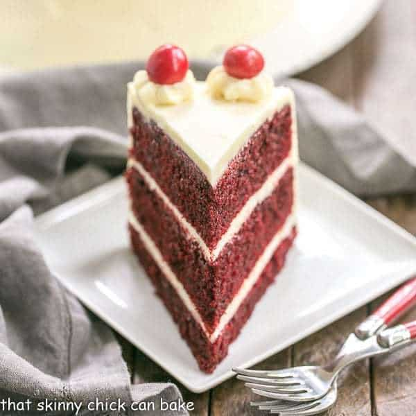 Red Velvet Cake with White Chocolate Cream Cheese Frosting | Triple layered decade