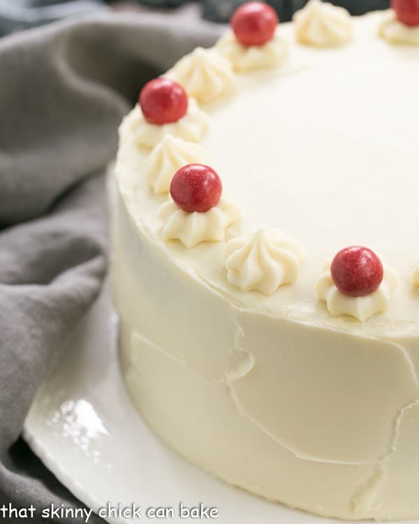 Red Velvet Cake with White Chocolate Cream Cheese Frosting   Triple layered decadence