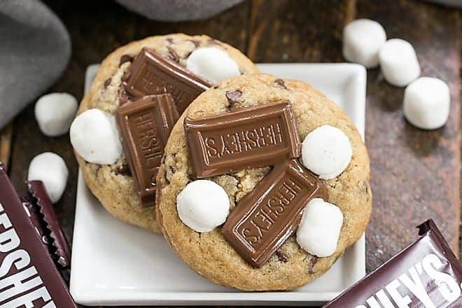S'mookies AKA Gooey S'mores Cookies featured image