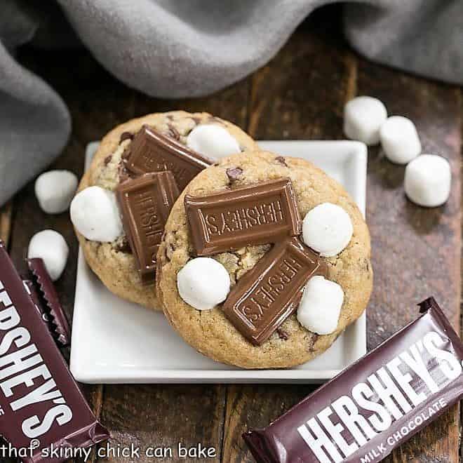 S'mookies AKA Gooey S'mores Cookies featured image