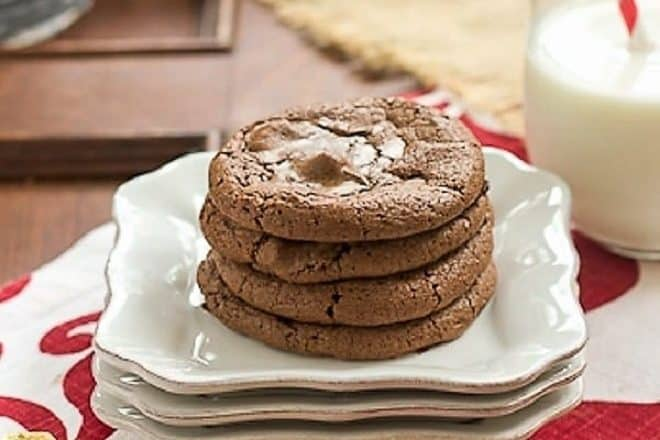 Rolo Brownie Cookies - Scrumptious treat with a caramel surprise in the middle