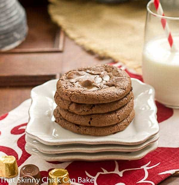 Rolo Brownie Cookies