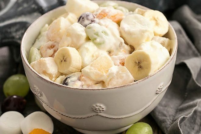 Holiday fruit salad featured image