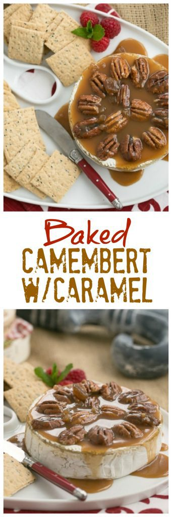 titled photo collage - Baked Camembert with Caramel