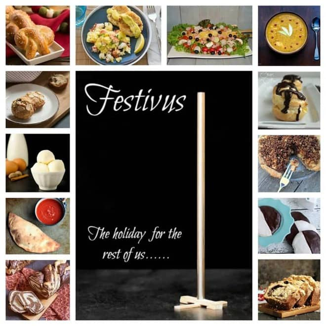Festivus collage of recipe images