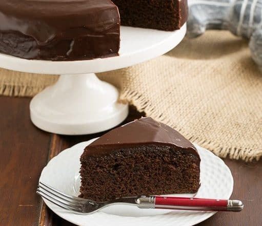 One Layer Fudge Cake | Rich, delectable and perfect when you don't need to feed a crowd!