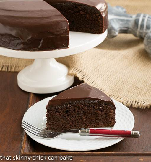 One Layer Fudge Cake | That Skinny Chick Can Bake