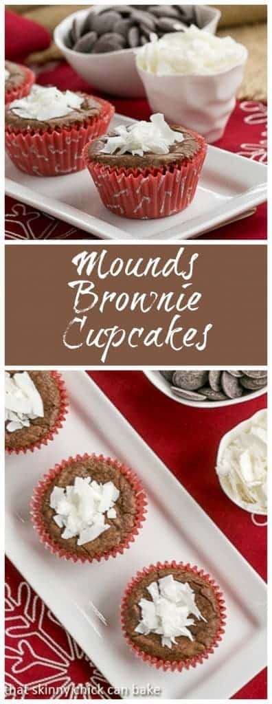 Mounds Brownie Cupcakes | Perfect for the coconut lovers in your life with bonus portion control!